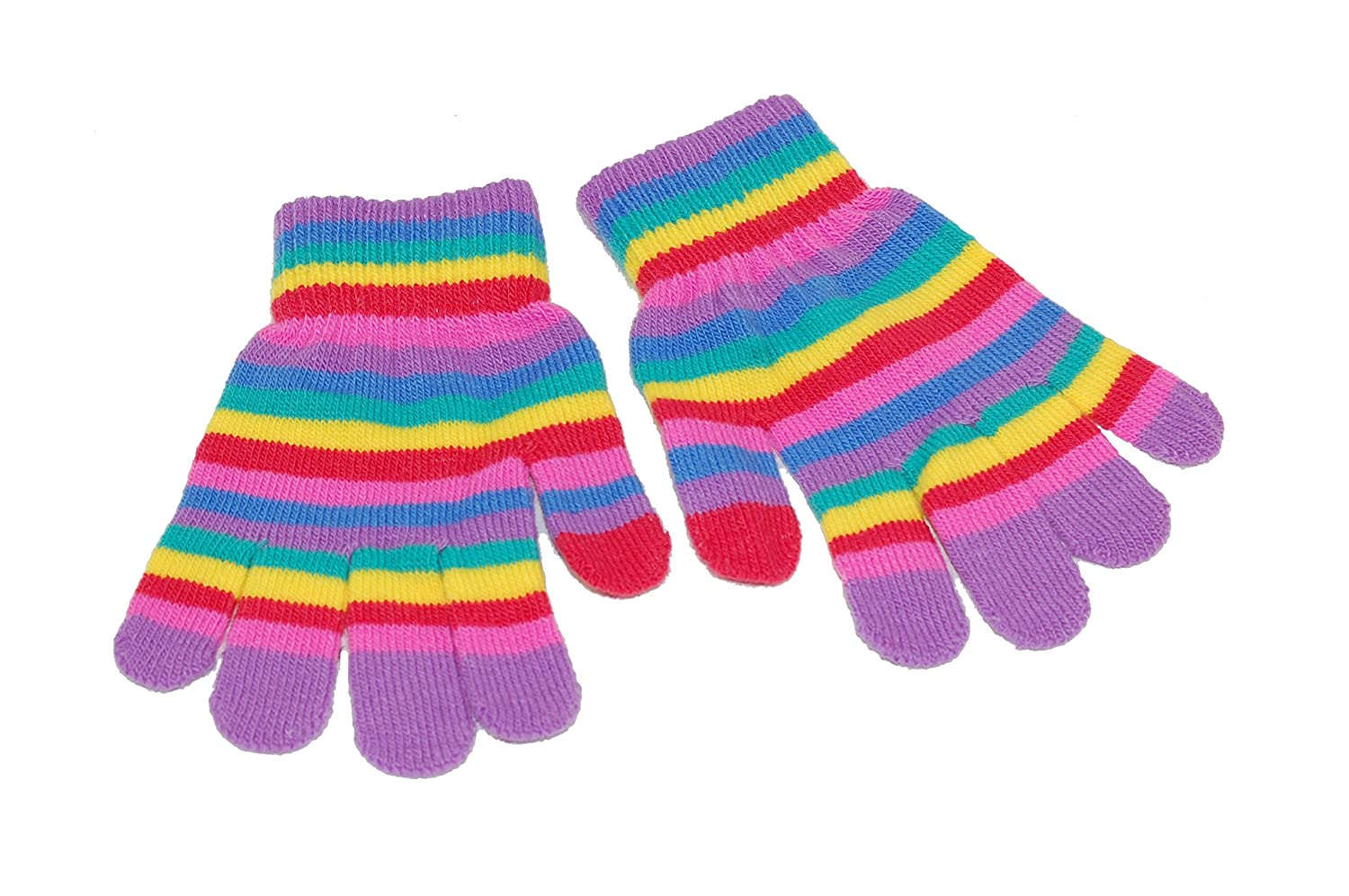 GIZZY® Rainbow Design Children's Magic Stretch Gloves.