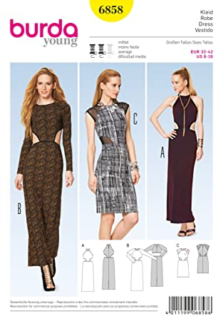 Amazon.com: Burda Sewing pattern, 6858 - Dress, Young