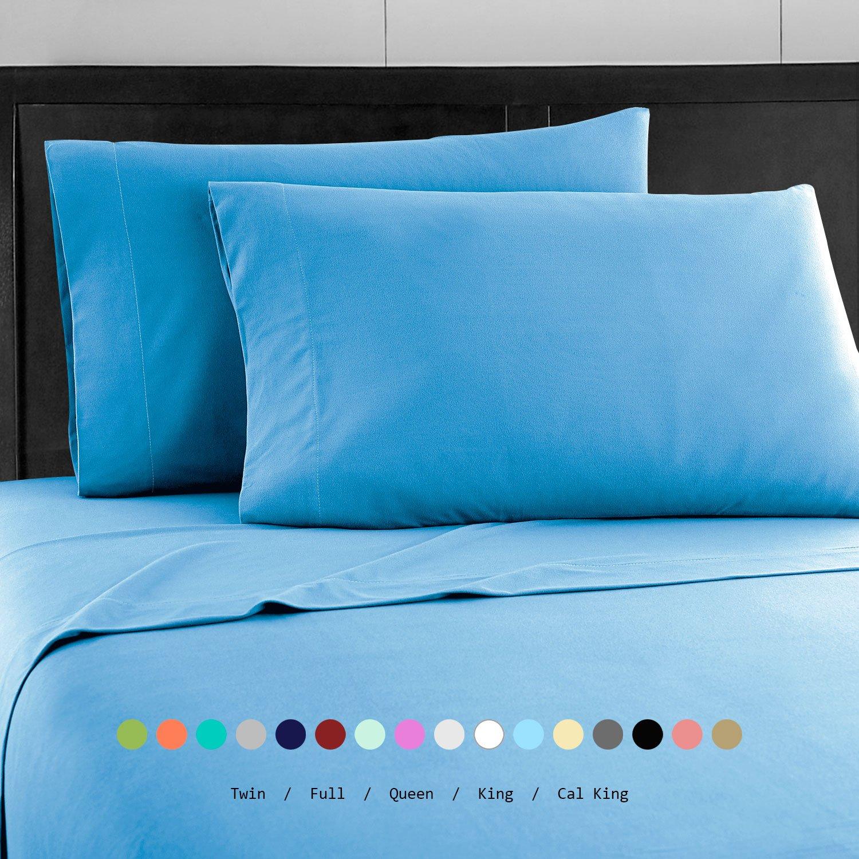 Prime Bedding ベッドシーツセット マイクロファイバー 2000 寝具4枚セット クイーン ブルー B076PRQHQL クイーン|ブルー ブルー クイーン