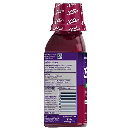 Amazon.com: Vicks ZzzQuil Nighttime Sleep Aid, Calming Vanilla Cherry Liquid: Prime Pantry