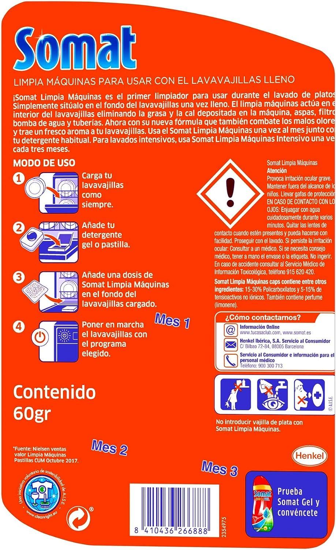 Somat Lavavajillas Limpia Máquinas - 3 Dosis: Amazon.es: Amazon Pantry