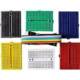 Elegoo 6PZ Mini Breadboard da 170 Punti Kit per Arduino UNO MEGA 2560 NANO