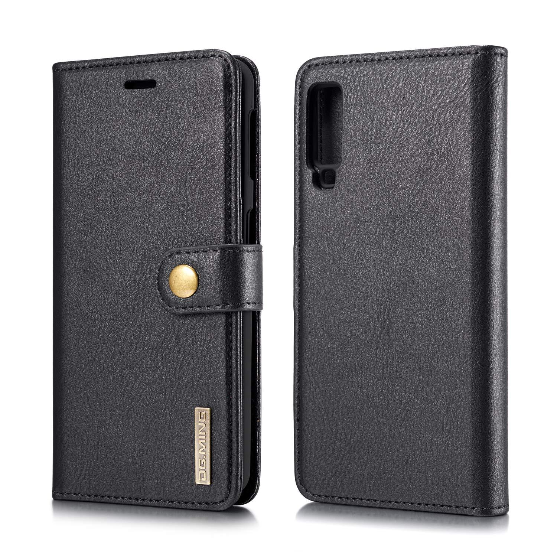 Kartenfach Karomenic PU Leder H/ülle kompatibel mit Samsung Galaxy A7 2018 Handyh/ülle Brieftasche Bookstyle Schutzh/ülle Klapph/ülle Ledertasche Flip Case,Schwarz Magnetverschluss Standfunktion