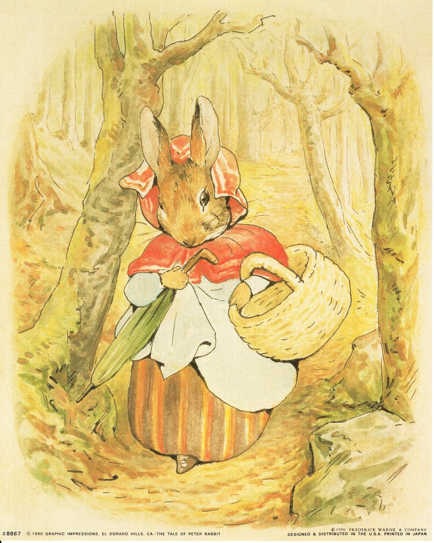 Beatrix Potter - The Tale of Peter Rabbit Kids Room Art Print Poster ...