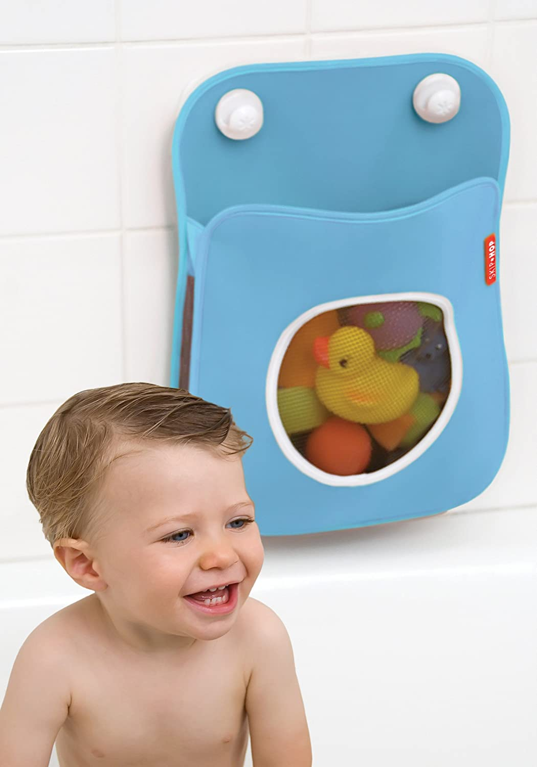 Amazon.com : Skip Hop Tubby Bath Toy Organizer, Blue : Bathtub Toy ...