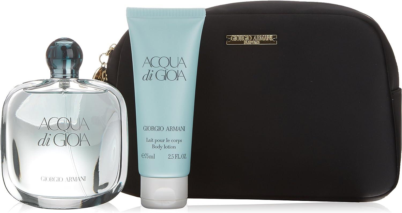 Armani Acqua Di Gioia - Agua de perfume, 3 piezas, 200 gr: Amazon.es: Belleza