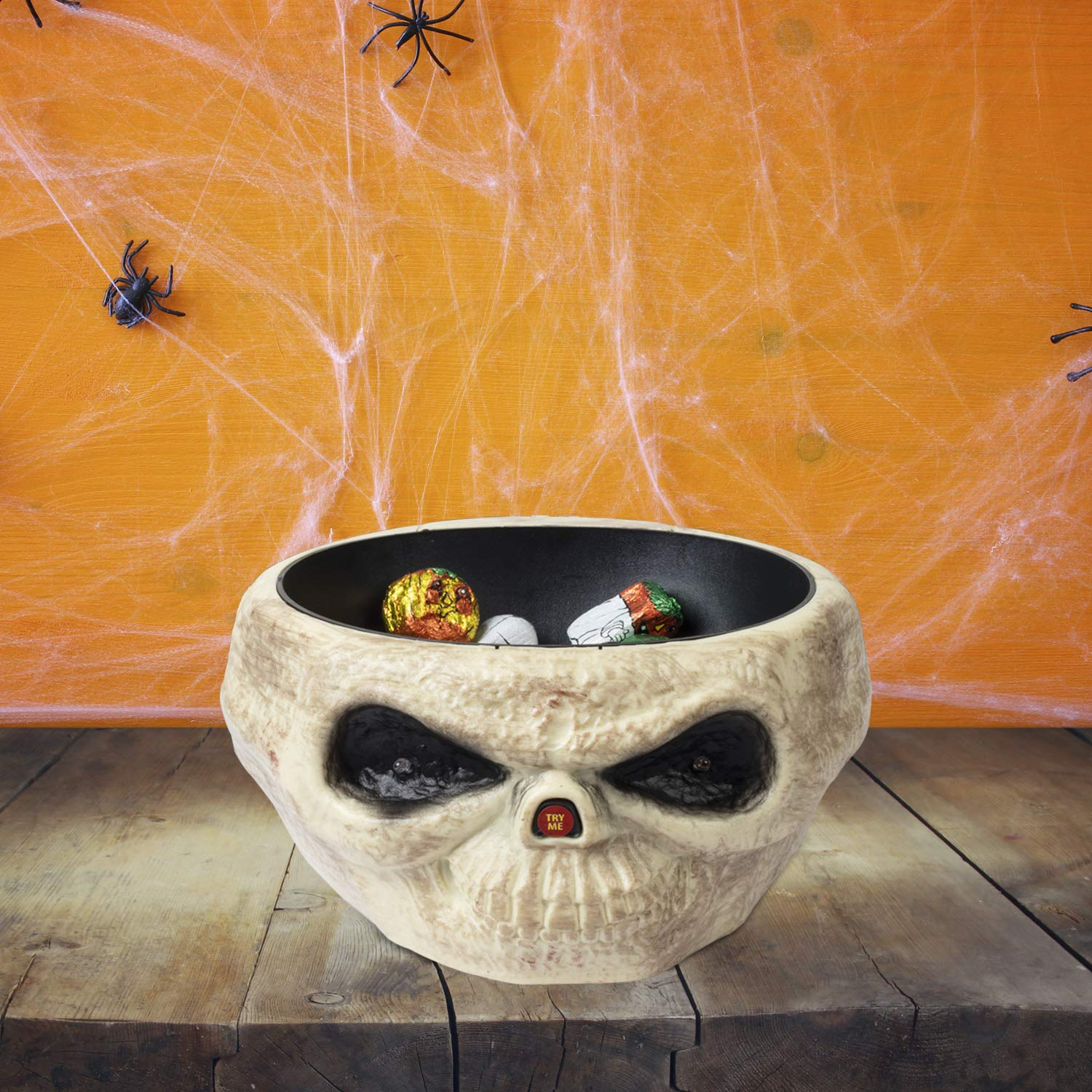 ITART Halloween Candy Bowl Grim Reaper Animated Candy Bowls Dish Halloween Decorations for Treat or Trick Candy Holder Container