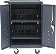 Pearington 18 Device Mobile Charging and Storage Cart for iPads, Chromebooks and Laptop Computers, Up To 17-Inch Screen Size,