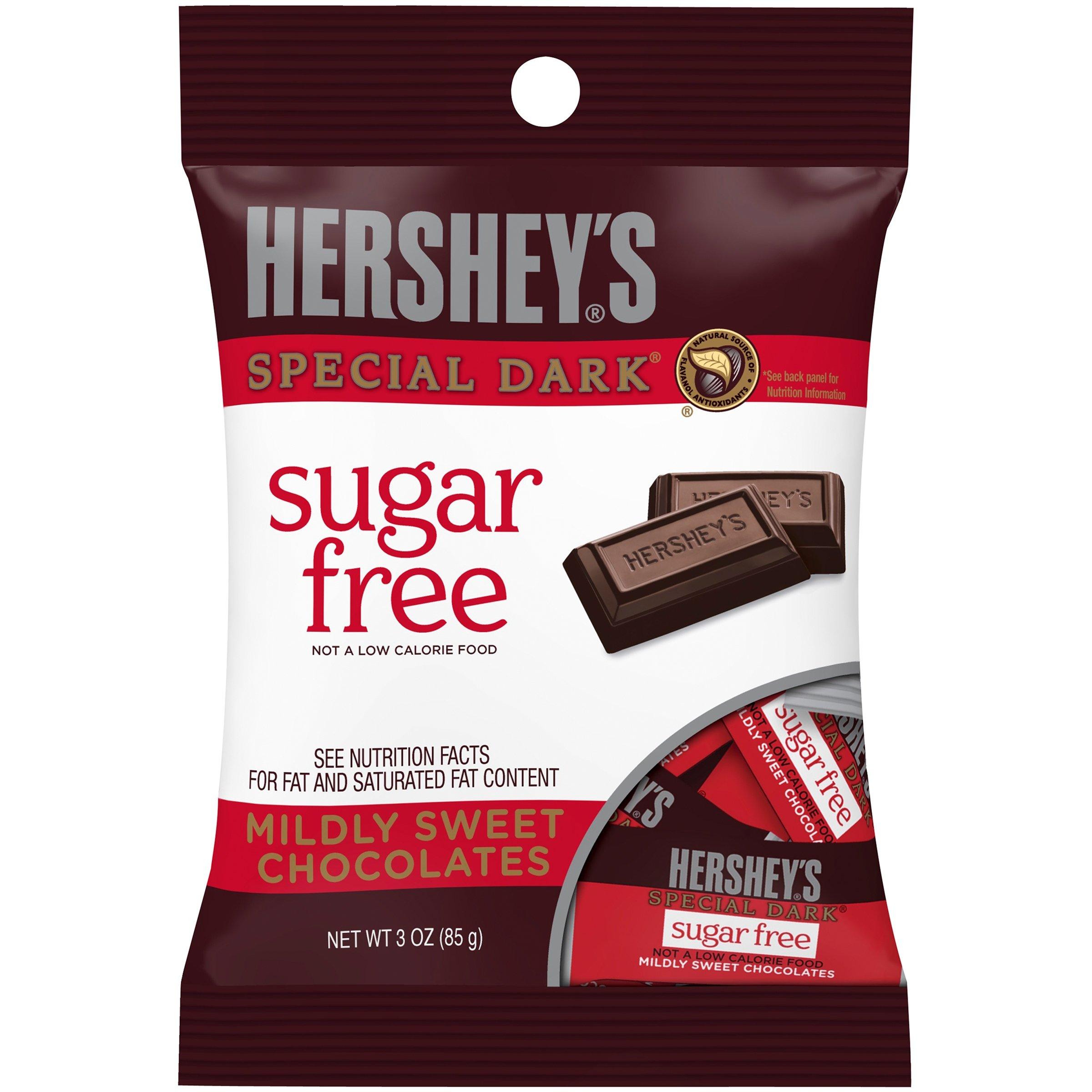 HERSHEY'S Sugar Free SPECIAL DARK Mildly Sweet Chocolate Bars, 3 oz (Pack of 6) by KingsOfBeats