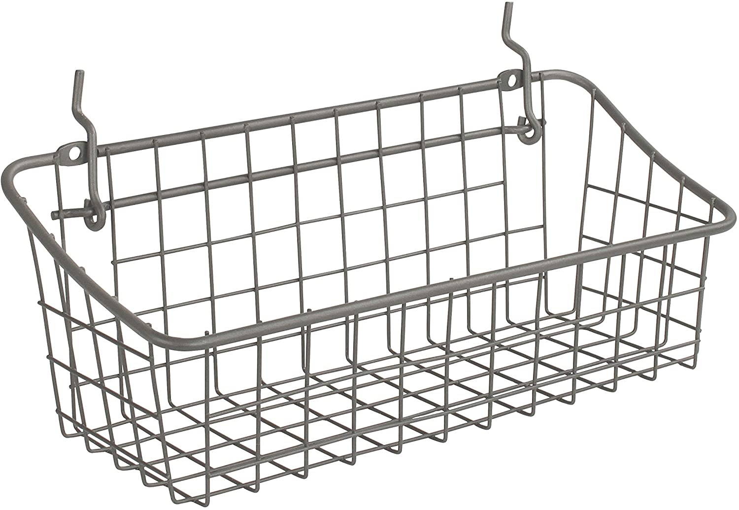 Spectrum Diversified Pegboard and Wall Mount Basket 16 x 4 x 4 Industrial Gray