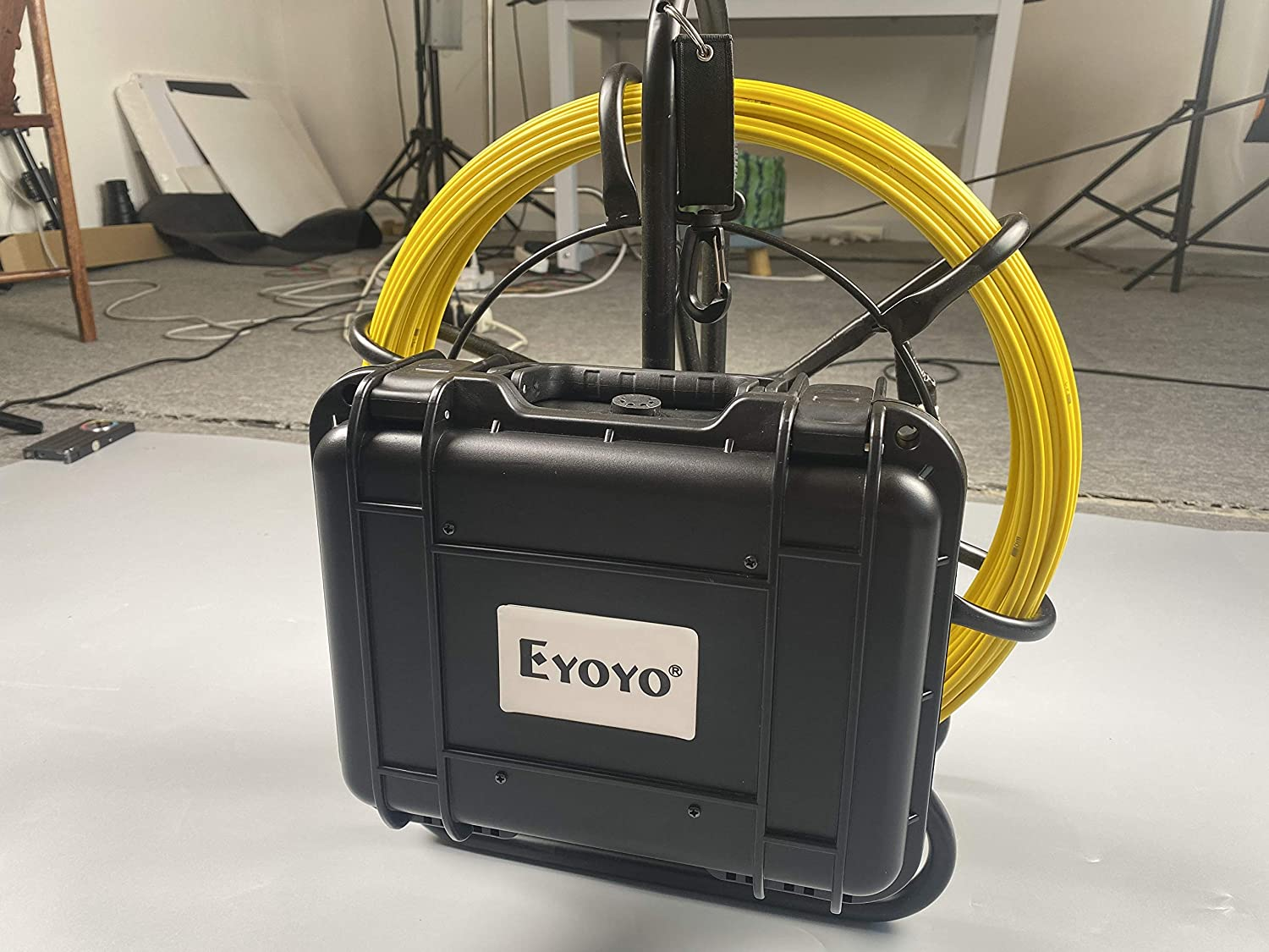 Eyoyo 50M//164FT Pipe Sewer Inspection Camera Portable Underwater Industrial Drain Cam Wall Video Plumbing System with 9 Inch LCD Monitor 1000TVL DVR Recorder Snake Cam with 8GB SD Card Included