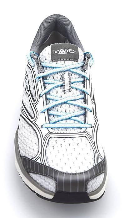 dd77d01c2248 MBT Afiya Lace Women Schuhe white-silver-horizon blue - 35  Amazon.it   Scarpe e borse