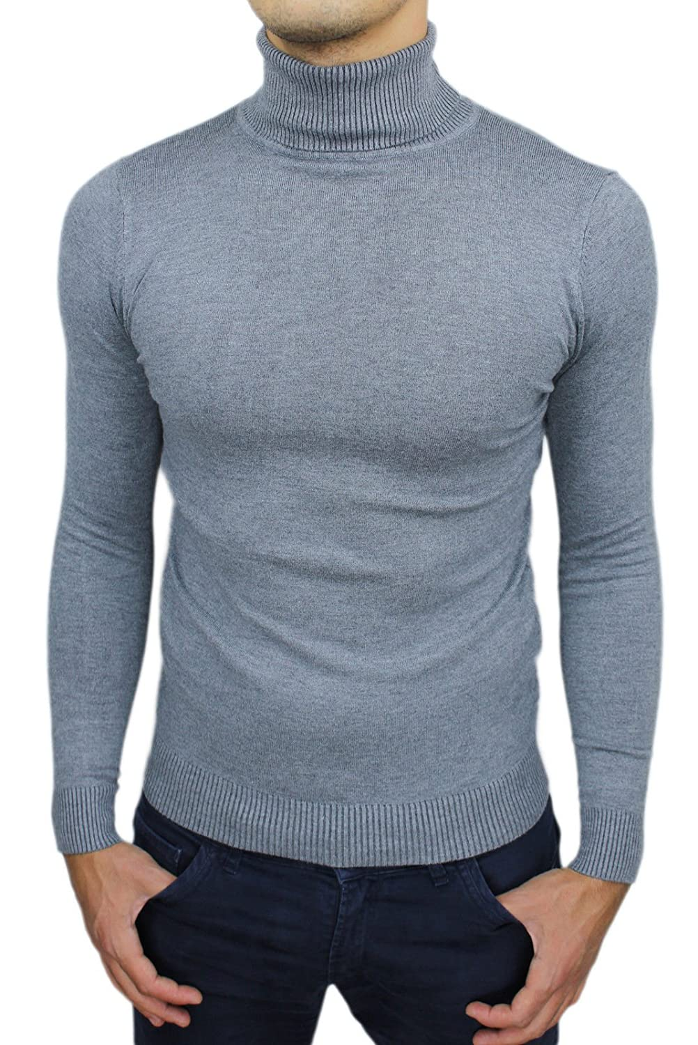 AK collezioni Men's Jumper grey bright grey (ral 7035) Large
