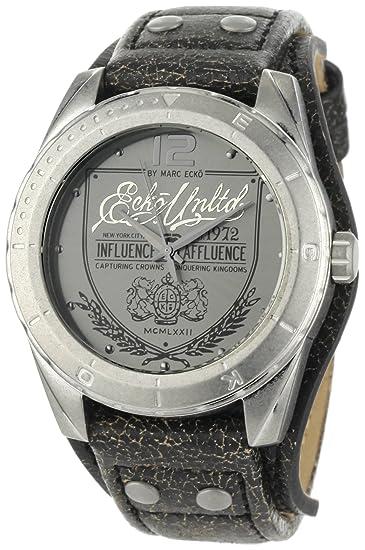 Marc Ecko Reloj Análogo clásico para Hombre de Cuarzo con Correa en Cuero E11518G1: Amazon.es: Relojes
