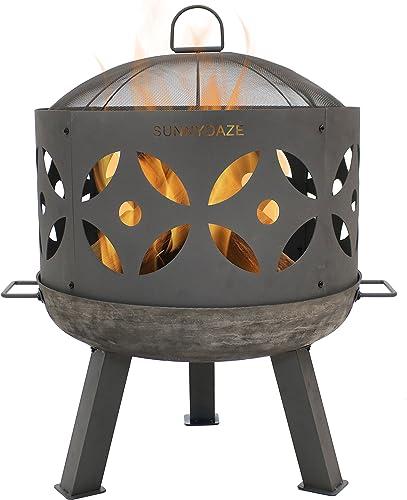 Sunnydaze Retro Fire Pit Bowl Pot