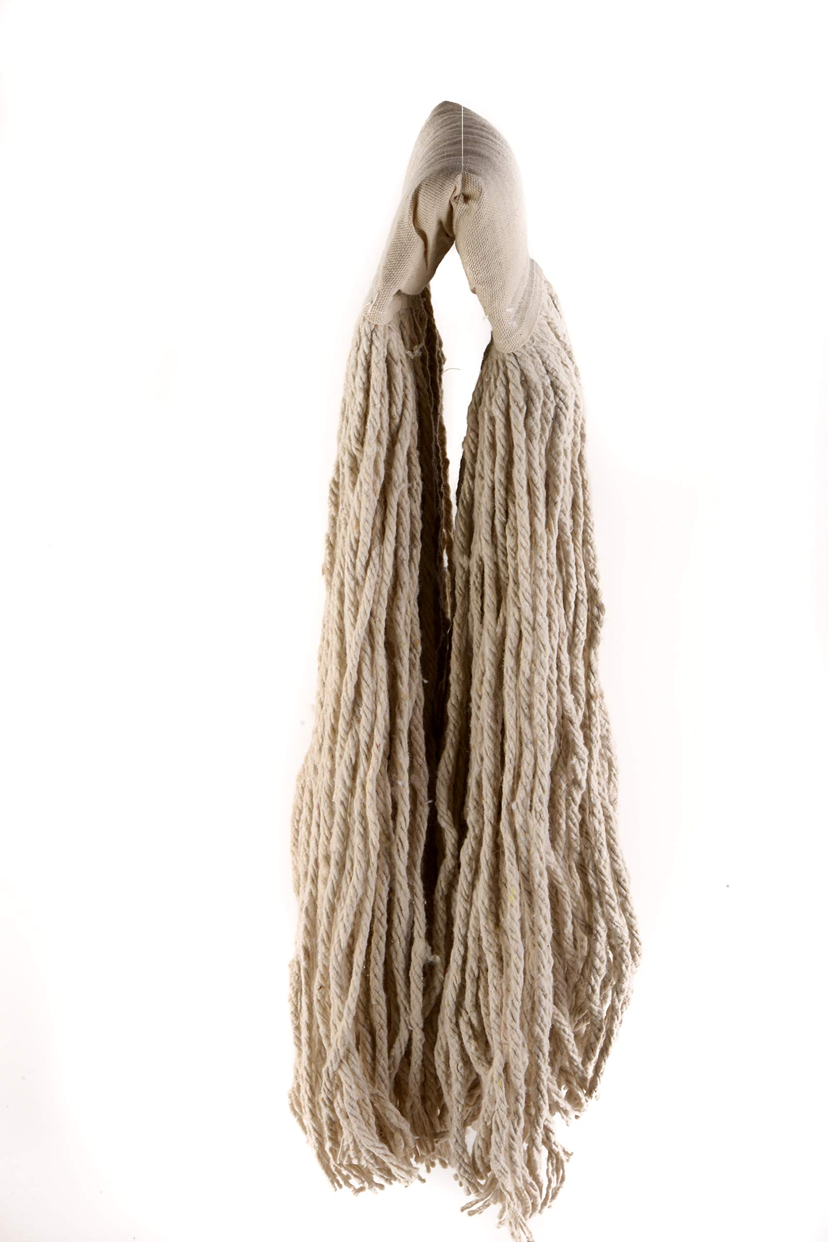 [60 PACK] EcoQuality Commercial Mop Head #32, 32oz Mop Head Blended Yarn - X-Large For Commercial And Industrial Use | Cotton Mop Head Replacement | 32 Ounce (White)