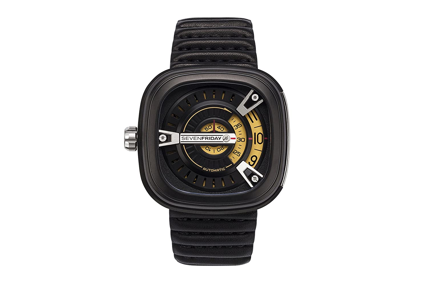 SEVENFRIDAY (Seven Friday) (H6 DLT) Mens Watch MSeries tonoface Watch 4562320464062, gold Black, Adjustable