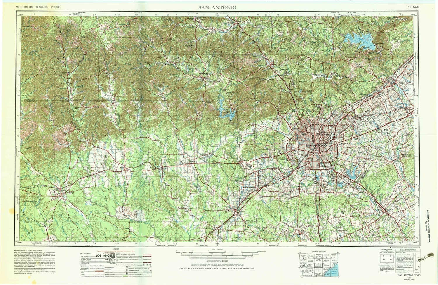 amazon com yellowmaps san antonio tx topo map 1 250000 scale 1 x 2 degree historical 1954 updated 1983 22 1 x 34 in paper sports outdoors yellowmaps san antonio tx topo map 1 250000 scale 1 x 2 degree historical 1954 updated 1983 22 1 x 34 in