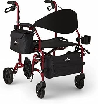 Amazon.com: Medline Red Combination - Silla de ruedas y ...
