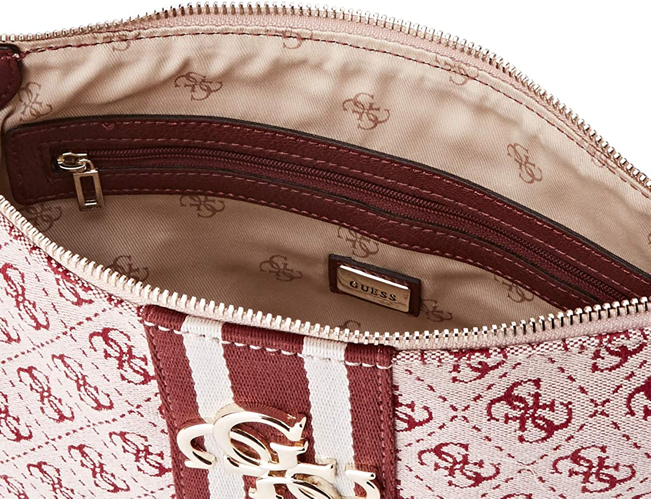 Guess Vintage, Borsa a Tracolla Donna, Rosso (Merlot
