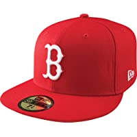 MLB New Era Boston Red Sox Red League Basic Fitted Hat