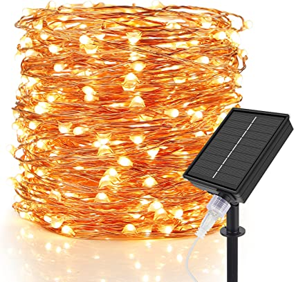 Outdoor Solar String Lights LED Waterproof Copper Wire Xmas Garden Party Decor