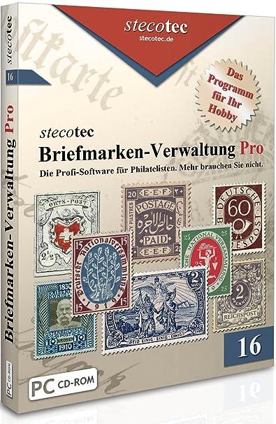 Briefmarken Software Stecotec Briefmarken Verwaltung Pro