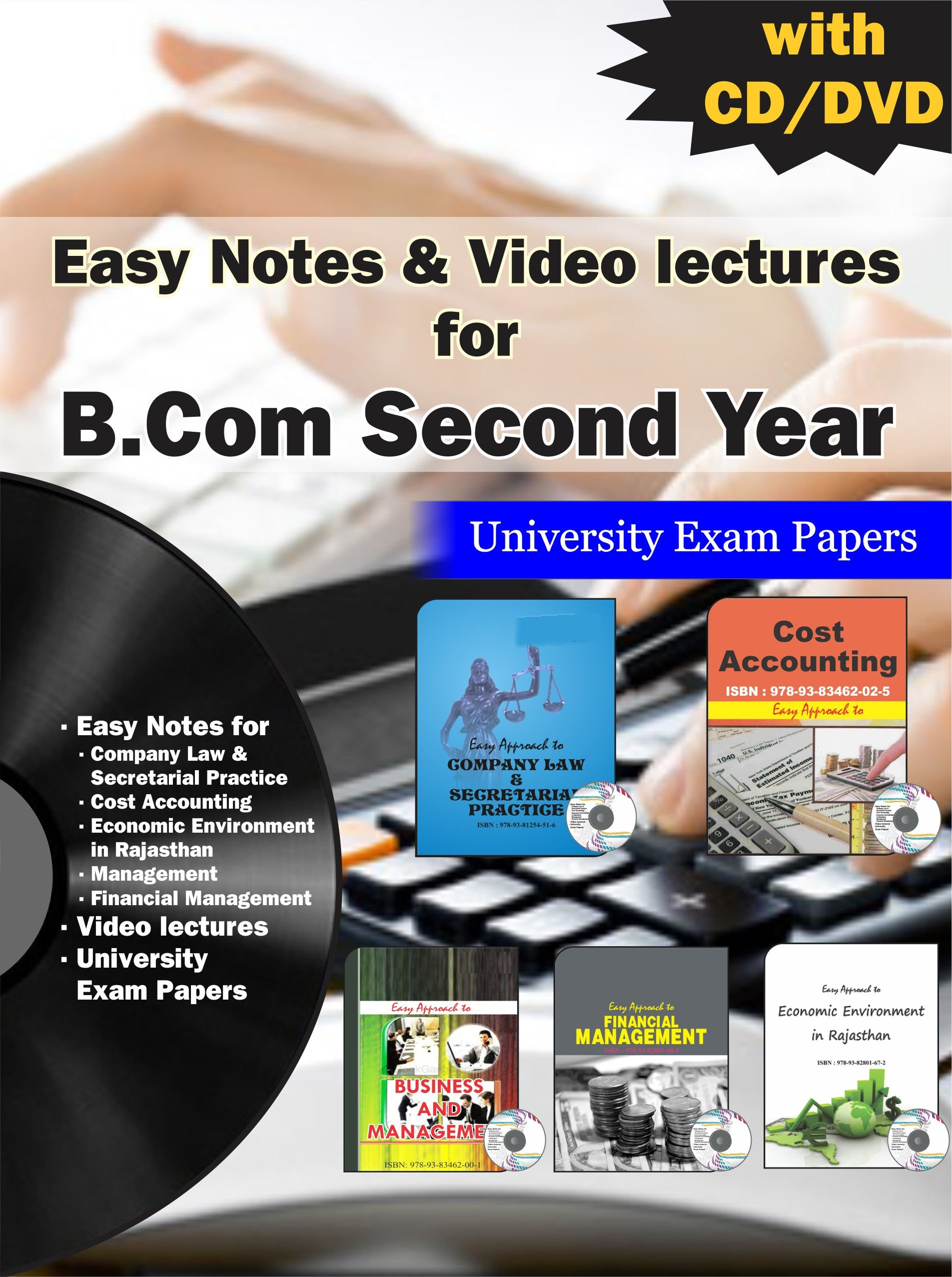 Buy Easy Notes Video Lectures For B Com Second Year Book Online