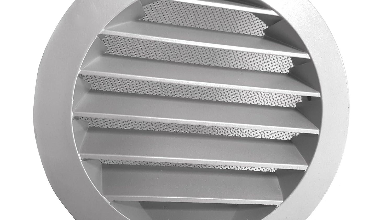 Intelmann Wetterschutzgitter Schwarz /Ø 100 Aluminium 100 125 150 160 200