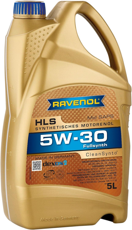 Ravenol Hls Sae 5w 30 5w30 Mid Saps Motoröl Dpf Geeignet 5 Liter Auto