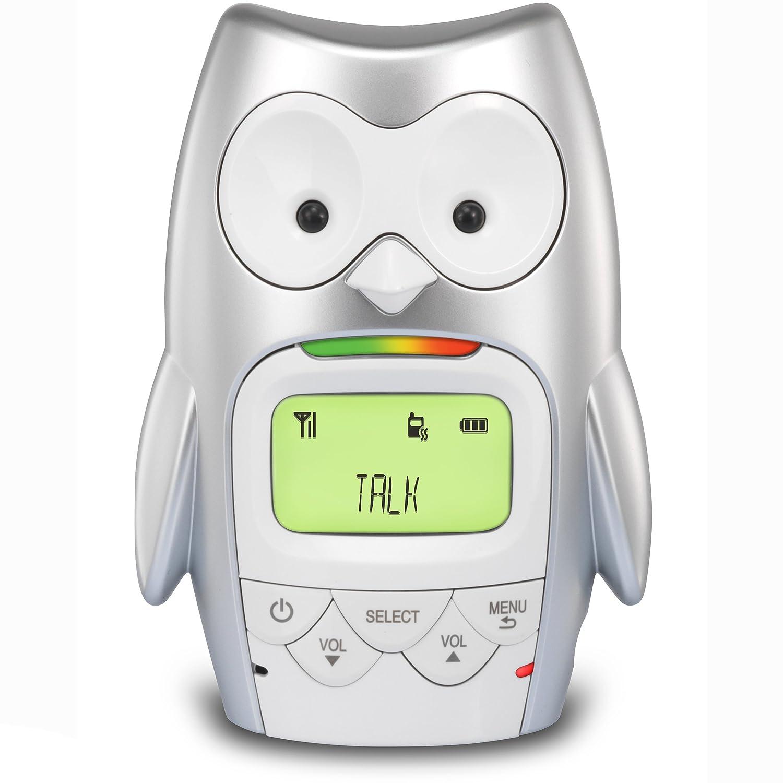 Vibrating Sound-Alert VTech DM225 Owl Audio Baby Monitor with up to 1,000 ft of Range Digitized Transmission /& Night light Talk-back Intercom