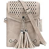 Women Small Crossbody Bag, seOSTO Tassel Cell Phone Purse Wallet Bags