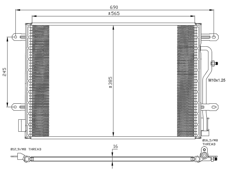 Klimaanlage NRF 35404 Kondensator