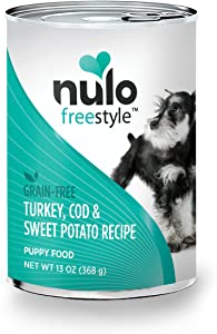 Nulo Puppy Grain Free Canned Wet Dog Food (Turkey Cod & Sweet Potato Recipe, 13 oz, Case of 12)