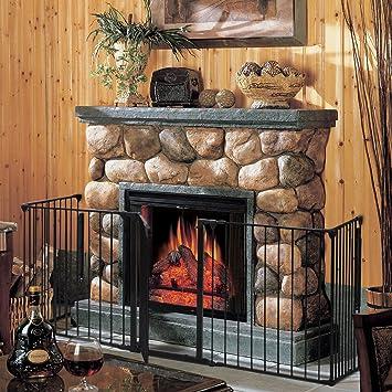8 Panels, Black CASART 5//6//8 Panel Metal Fireplace Fence//Safety Gate//Safety Barrier//Stove /& Fire Guard//Room Divider for Bedroom Kitchen Office Home