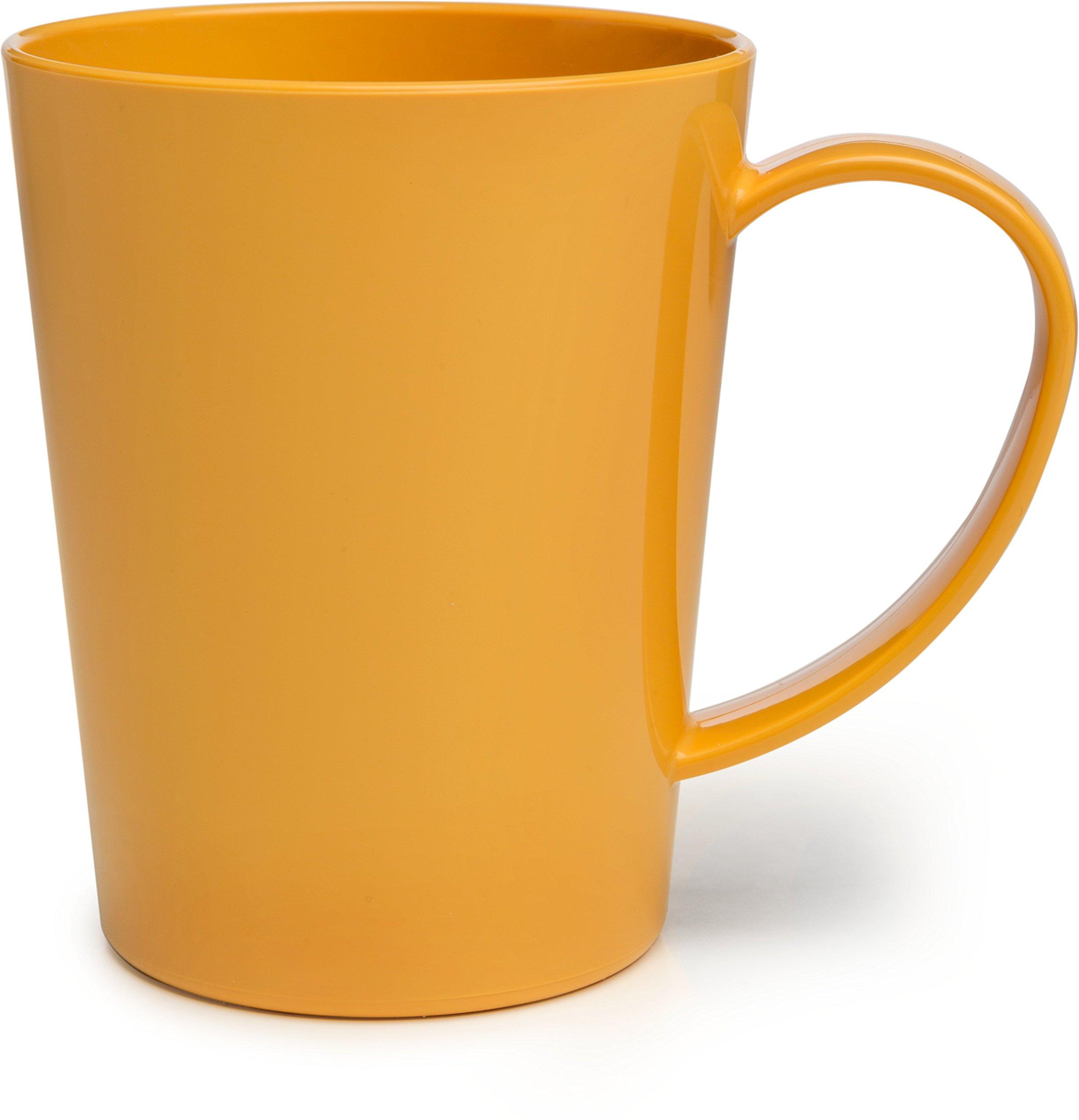 Carlisle 4306822 Break-Resistant Tritan Coffee Mug, BPA Free Plastic, 12 oz, Honey Yellow (Pack of 12)
