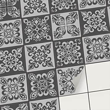 Stickers Carrelage Autocollant Adhesif Mural Deco Carreaux De Ciment I Recouvrir Carrelage Credence Cuisine I Adhesive Decorative A Carreaux 20x20