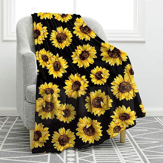 Sunflower Blanket Double Sided | Throw Blanket