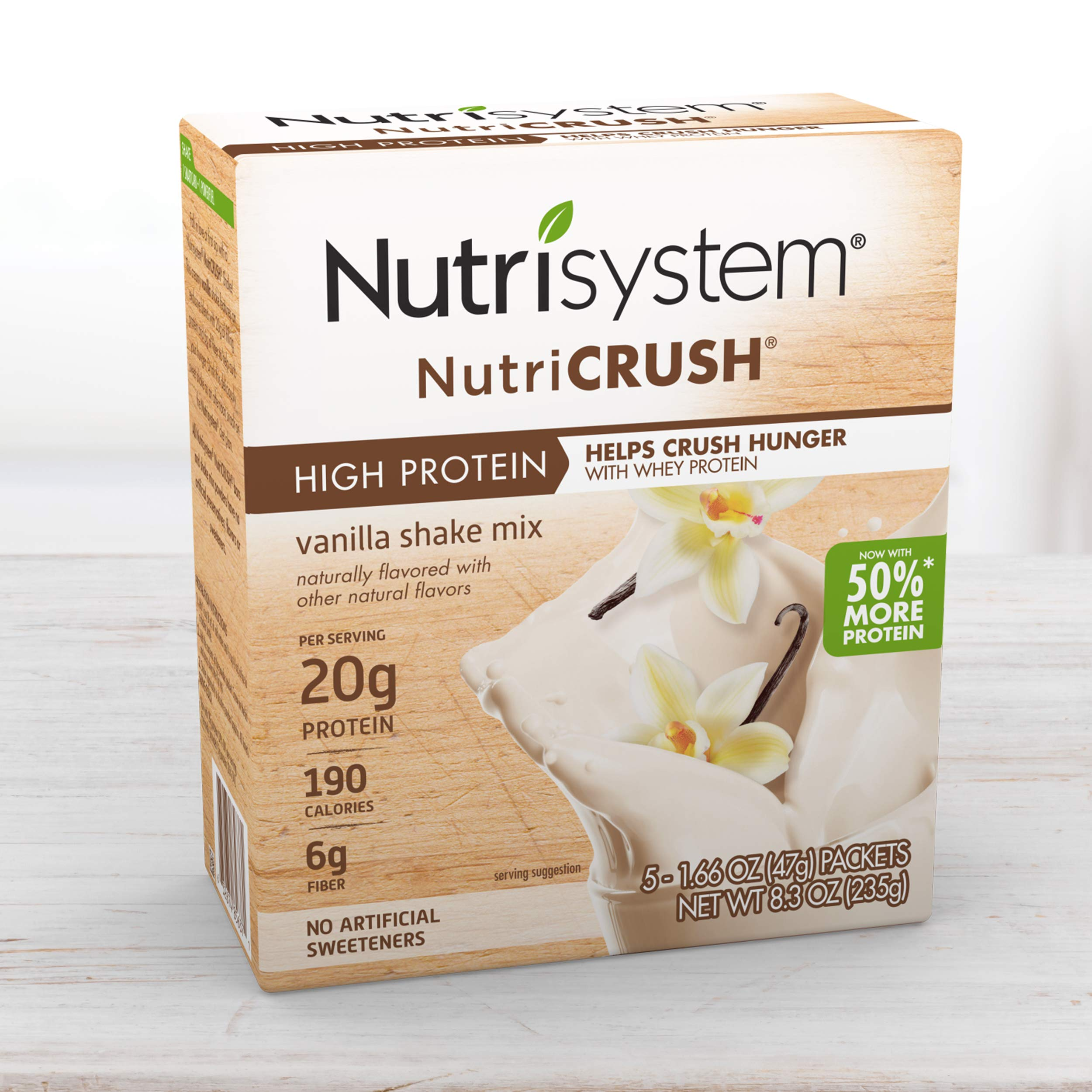 Nutrisystem® NutriCRUSH® Vanilla Shake Mix, 20 Count, Now with 50% More Protein by Nutrisystem
