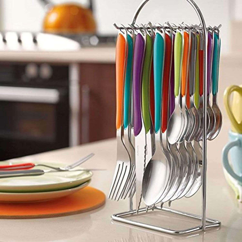 Multicoloured Handles Amefa Eclat Kaleidoscope 24 Piece Hanging Cutlery Set