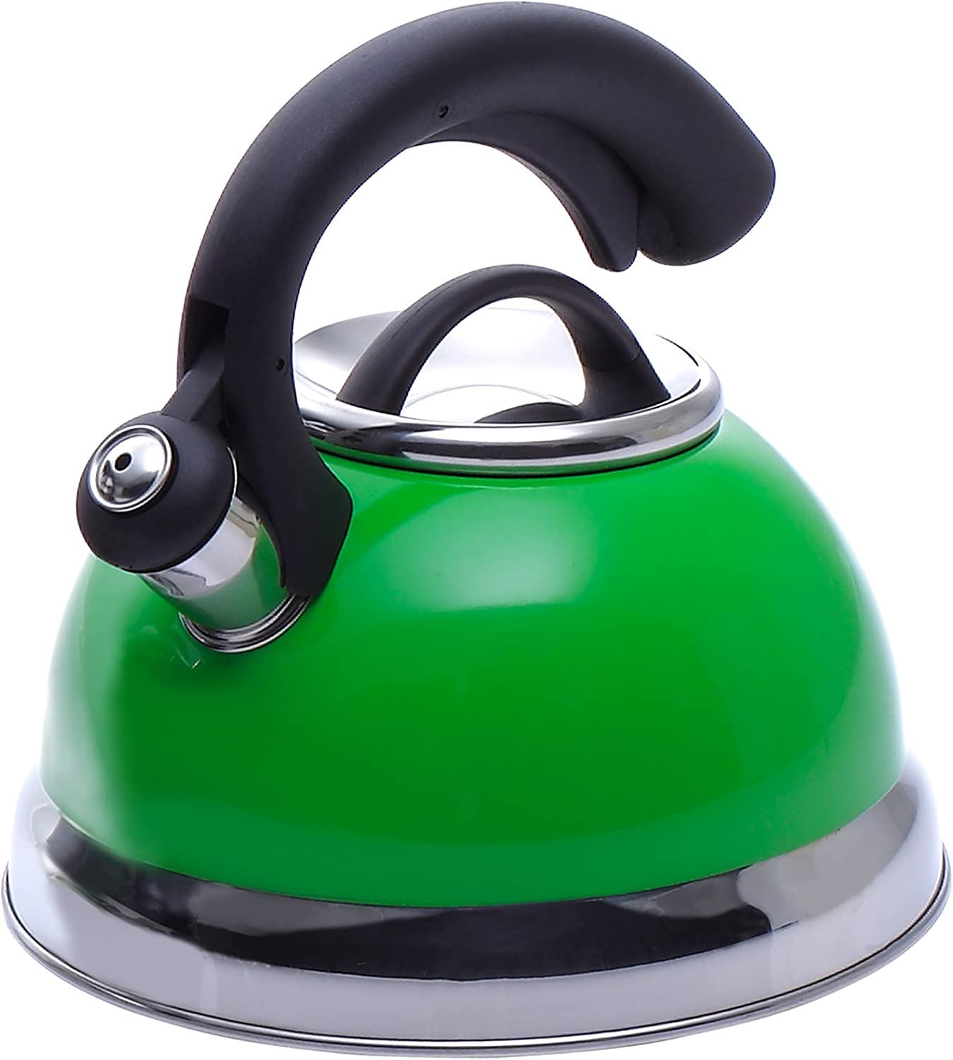 Creative Home Symphony Green 2.6 Qt Stainless Steel Whistling Tea Kettle