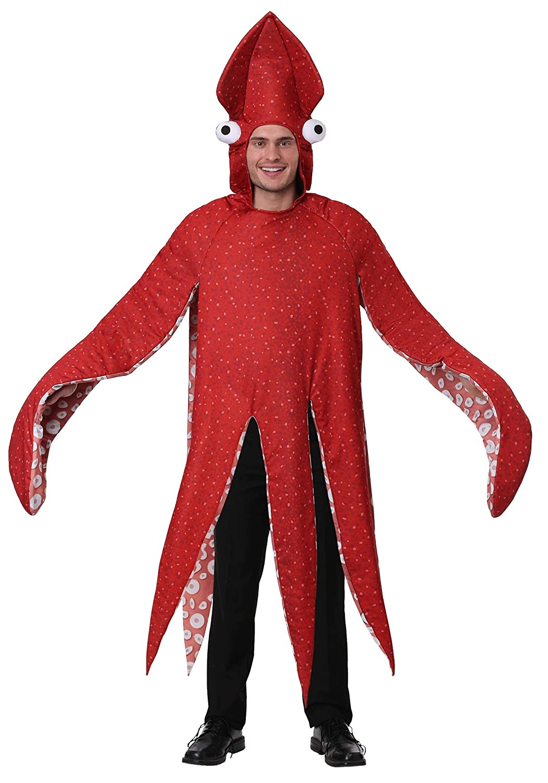Adult Squid Fancy Dress Costume Standard