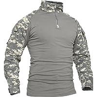 TACVASEN Heren Combat Airsoft Militaire Shirts met Lange Mouwen
