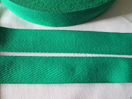KRAFTZ® Herringbone Cotton Tape 25mm 25m Roll for Craft Bunting