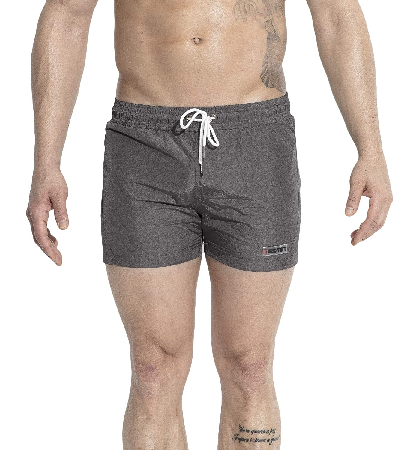MZIMK Men's Quick Dry Beach Board Shorts Solid Mens Swim Trunk Beach Shorts with Mesh Lining, Pocket ROLET-2X3-168