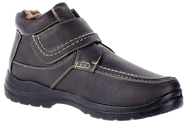 Dvina Herren Stiefel Winterschuhe Boots Warmfutter Klettschuhe 6295