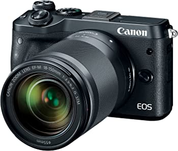 Canon EOS M6 24.2MP Mirrorless Digital Camera w/18-150mm Lens