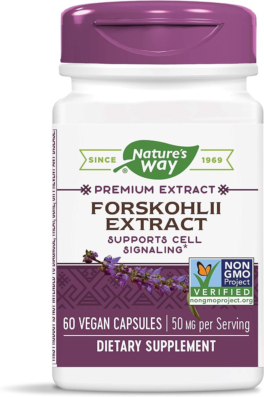 Nature's Way Forskohlii Extract Standardized 18% Forskolin, 60 Vcaps