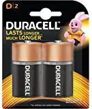 Duracell Alkaline D Battery, with Duralock Technology - 2 Pieces