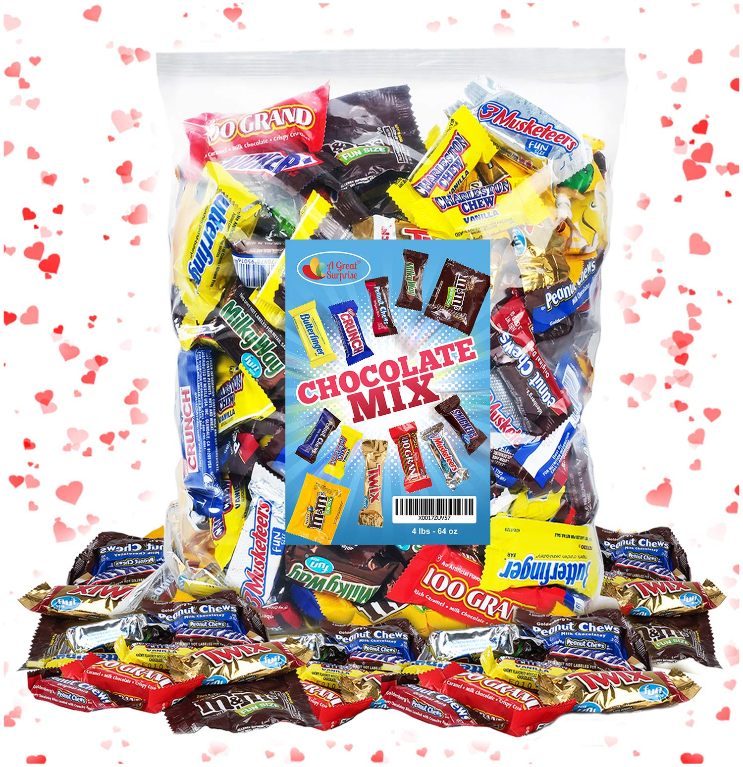 CDM product Chocolate Variety Pack Fun Size Mix - Holiday Chocolate Mix - All Your Favorite Chocolate Bars, 4 LB Bulk Candy big image